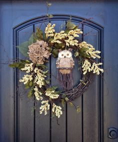 Fall Wreath Spring Summer Berry Twig Burlap by AnExtraordinaryGift, $80.00