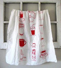 coffee drinker tea towel, love everything this vendor makes