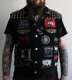 Diztrakta's Darkthrone, Absu, Watain, black metal battle jacket Battle Jacket | TShirtSlayer