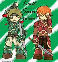 Knights of Caelin (Rekka no Ken) Fire Emblem - FE7 - Kent & Saint - Kent - Sain