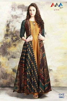427 Yellow Color Printed Pure Maslin Cotton Fabric Festive Formal Wear Stylish Designer Wear Occasionally Fashion Gown Style Long Kurti Wholesale Supplier from Surat in Best Price @ INR Indian Designer Outfits, Designer Gowns, Indian Outfits, Pakistani Dress Design, Pakistani Dresses, Casual Dresses, Fashion Dresses, Printed Gowns, Kurta Designs Women