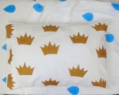 Royal Crown pillowcase by AliJoyKids on Etsy Crown Royal, The Crown, First Birthday Parties, First Birthdays, Pillow Cases, Bedding, Kids, Handmade, Etsy