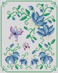 Cross Stitchers Club Butterfly Cross Stitch, Mini Cross Stitch, Cross Stitch Borders, Cross Stitch Samplers, Cross Stitch Animals, Butterfly Art, Cross Stitch Flowers, Cross Stitching, Cross Stitch Embroidery