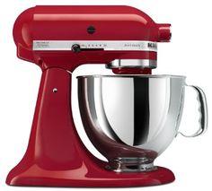 Amazon.com: KitchenAid KSM150PSER Artisan Series 5-Quart Mixer, Empire Red: Home & Kitchen