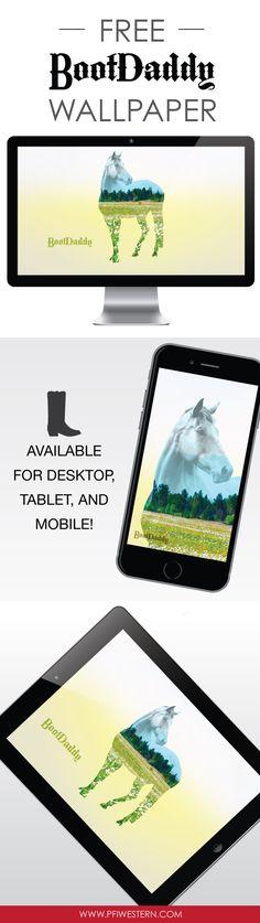 BootDaddy #therealbootlife August summer field horse mobile & desktop free wallpaper