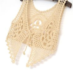 """soft sexy blouse in beautiful floral pattern, with lacy irregular edge elegant sexy piece in beige color, made with acrylic yarn in Standard size - will fit sizes XS, S.  It measures 16"""" in length for the front and 11"""" for the back part"""