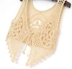 crop top crochet women lace tank top summer by Tinacrochetstudio, $23.00