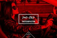 Duo-Red  Duotone Photoshop Action by Claudiu Gabriel on @creativework247