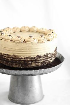 Sprinkle Bakes: Chocolate Chip Cookie Dough Devils Food Cake Cheesecake