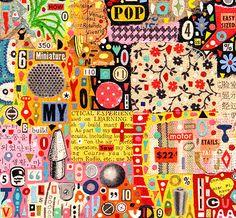 Colin Johnson - collage Mixed Media Collage, Collage Art, Klimt, Collages, Communication Art, Elements Of Art, Painted Paper, Mail Art, Art Plastique
