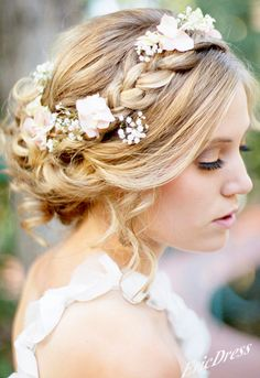 Wedding Bride Hair Style. I want something like this, but then it still comes down I. The back.