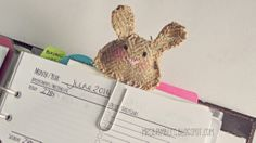 How to make a Plushie Bunny Paper Clip / Page Marker - Filofax Friday