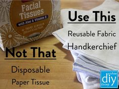 Reduce waste. We love hankies! Here's why: ~ 100% cotton, softer on skin than tissue. ~ Comes in a variety of colors and patterns to match mood or outfit. ~ Easy to wash and reuse. ~ A 6-pack of hankies costs about $6 and lasts years; a box of tissue cost $3 and be gone in days. Reduce Waste, Handmade Home, Vitamin E, Diy Paper, Reuse, Mood, Patterns, Colors, Outfit