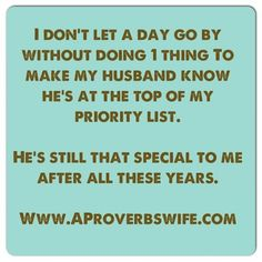 Marriage Quotes - Where is your husband on your priority list?