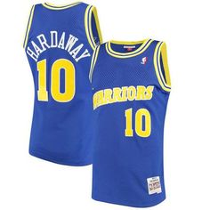 ddfdd8c5384 Men s Golden State Warriors Tim Hardaway Mitchell   Ness Royal 1990-91  Hardwood Classics Swingman Jersey
