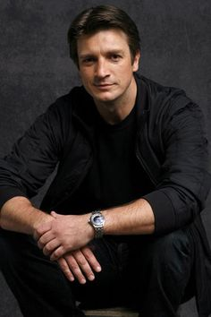 """Nathan Fillion - THAT smile. To Quote Another Pinner, """"Nathan Fillion ~ my favorite man!true on SO many levels! Ruggedly handsome, and oh, so charming. Nathan Fillon, Teacher Jokes, Richard Castle, Out Of Touch, Education Humor, Book Signing, Hey Girl, Beautiful Men, Beautiful People"""