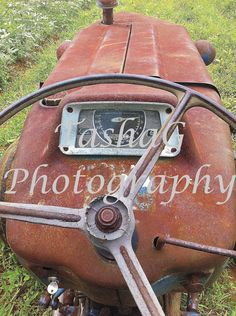 Vintage Farm Tractor Photography Canvas