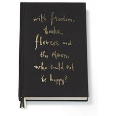 Kate Spade New York Freedom, Flowers & The Moon Journal ($25) ❤ liked on Polyvore featuring home, home decor, stationery, books, accessories, art, filler, apparel & accessories and no color