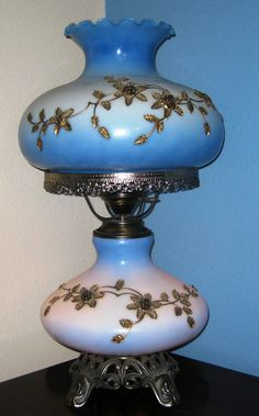 Vintage Hurricane Lamp. I love these