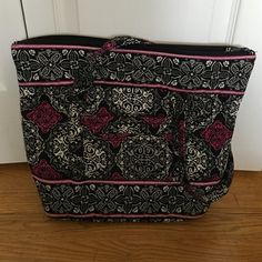 Very Bradley look alike tote Very cute very Bradley look alike bag! Never used! Grey, white, black and purple in color. Two pockets on the outside and six pockets on the inside. Bags Totes