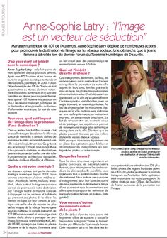 Interview Les Cahiers du Tourisme - avril 2016