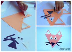 Using playful shapes explore the Gruffalo characters in the popular children's book created by Julia Donaldson by making Gruffalo Themed Shape Animals. Gruffalo Eyfs, Gruffalo Activities, Eyfs Activities, The Gruffalo, Shape Activities, Gruffalo Party, Fox Crafts, Animal Crafts, Preschool Crafts