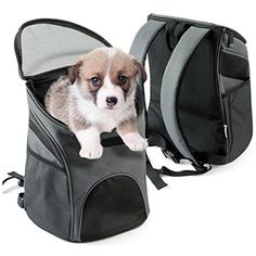 Pet Backpack Breathable Mesh Soft-side Animal Carrier Adjustable Comfortable Cat Dog Pet Carrier,Mesh Pup Pack,Soft-sided Outdoor Travel Backpack for Pet ** More info could be found at the image url. (This is an affiliate link) #Dogs