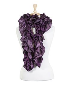 Look at this Purple Ruffle Scarf on #zulily today!
