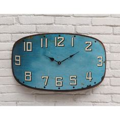 I love the color and rustic touch of this clock! City Blues Clock