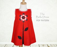 Girls dress sewing pattern PDF Kids by MyChildhoodTreasures