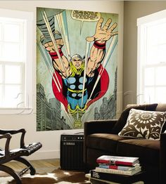 Retro Marvel Comics Wall Murals
