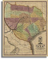 Map of Texas with Parts of Adjoining States by Stephen F. Mexican Army, Republic Of Texas, Texas History, Framed Prints, Canvas Prints, Historical Maps, Study Materials, Old Antiques, Social Studies