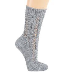 Схема и описание вязания на спицах носков, связанных на круговых спицах, из журнала «Verena» №3/2015