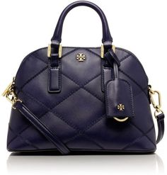 Tory Burch Robinson Stitched Mini Dome Satchel in Blue (TORY NAVY) - Lyst