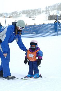First time skiing with kids