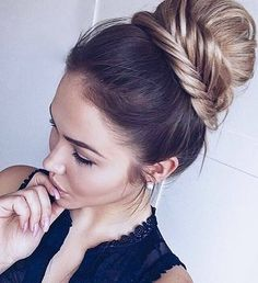 Dirty Blonde is truly a beautiful shade and is one of our most popular colors, as it blends with many different shades of blonde. Instantly transform your hair with Dirty Blonde clip-in Luxy Hair exte Braided Bun Hairstyles, Up Hairstyles, Pretty Hairstyles, Bun Updo, Fishtail Bun, Summer Hairstyles, Simple Hairstyles, Hairstyle Ideas, Bob Hair