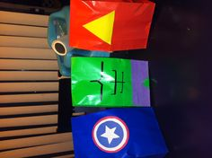 Avengers party bags : Iron Man, The Hulk and Captain America