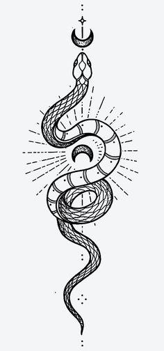Cute Tiny Tattoos, Little Tattoos, Mini Tattoos, Body Art Tattoos, Small Tattoos, Tattoos For Guys, Small Snake Tattoo, Snake Ankle Tattoo, Snake And Flowers Tattoo