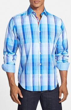 Bugatchi Classic Fit Check Sport Shirt available at #Nordstrom