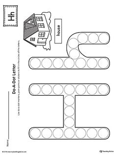Letter H Do-A-Dot Worksheet Worksheet.The Letter H Do-A-Dot Worksheet is perfect for a hands-on activity to practice recognizing the letters of the alphabet and differentiating between uppercase and lowercase letters.