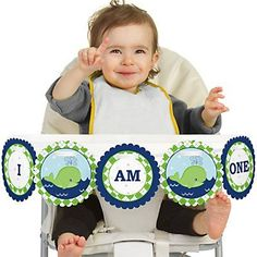 Tale Of A Whale - High Chair Birthday Party Banners | BigDotOfHappiness.com
