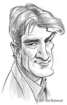 Caricatura de Castle por Tom Richmond http://www.caricaturasfamosos.com/2014/08/caricaturas-de-castle-nathan-fillion.html
