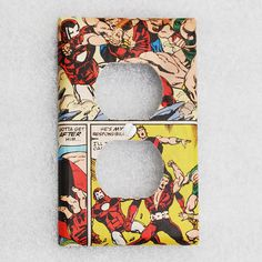 Iron Man Socket Cover Marvel Comics  Home by NewVisionsStudio