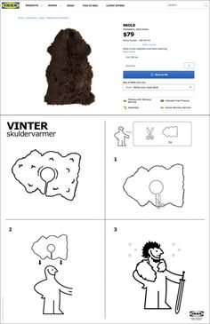 Ikea Released Official Instructions To DIY Your Own Jon Snow Cape - Create your own game of thrones ikea instructions