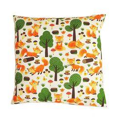 Fox cushion Fox pillow case fox gift fox print fox