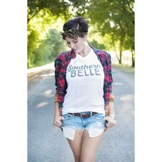 Southern Belle - Southern V-Neck Tee by Ruby's Rubbish $27