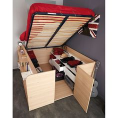 Parisot bed with dresser underneath
