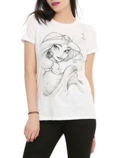 Disney Aladdin Jasmine Sketch Girls T-Shirt