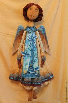Купить Небесные птицы...Ангел - разноцветный, текстильная кукла, ароматизированная кукла, интерьерная кукла, ангел