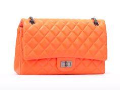 Timmy Woods orange flap chain bag